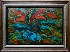 Kuvshinoff, Bertha: Original Abstract Still Life Oil Painting, Signed & Framed