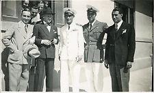 AVIAZIONE AERONAUTICA PILOTI DA CACCIA IN POSA FOTOGRAFIA VINTAGE ORIGINALE 1935
