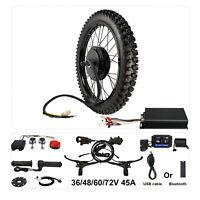 48V 1500W Bicycle Ebike Conversion Kit 21'' Motorcycle Rim Rear Wheel 26''x3.0