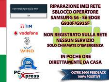RIPARAZIONE IMEI SBLOCCO SAMSUNG S6 S6 EDGE G920F G925F BLACKLIST UNLOCK REPAIR
