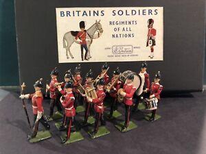 Britains: British Line Infantry Band. Post War c1950s