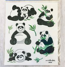 2 Sheets Panda Bear Animals Stickers Papercraft Planner Supply Scrapbook Bujo