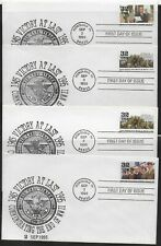 10 Wwii 50th Anniversary of End of Wwii - Fdcs 1991-95, Uss Carl Vinson Stamped