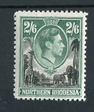 Northern Rhodesia KGVI 1938-52 2s6d black & green SG41 MNH
