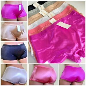 6-12 Satin Silky Boyshorts Booty Shorts shiny Sissy Bikini Panties PLUS LOT S-4X