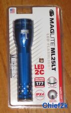 MAGLITE 2-C LED Flashlight Blue Liberty Bell Maglight TWIST ON/OFF ML25LT