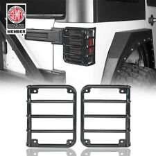 Steel Rear Tail Light Guards Cover Black Cover For 2007 2018 Jeep Wrangler Jk Fits Jeep