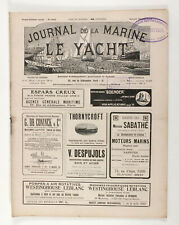 1913 France JOURNAL DE LA MARINE LE YACHT Antique French Yachting magazine