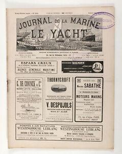 1913 France JOURNAL DE LA MARINE LE YACHT Antique French Yachting magazine