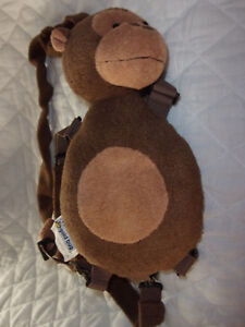 "Gold Bug Child Harness 28"" Reach Monkey Plush Soft Toy Stuffed Animal"