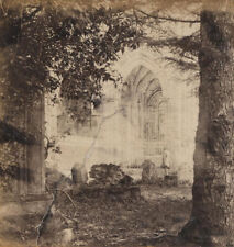 STEREOVIEW LONE FIGURE AT CATHEDRAL CEMETERY.