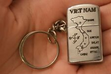 #k18 Vietnam War Key Chain Lighter Sai Gon 71-72 War is hell but actual combat