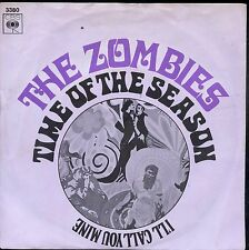 7inch THE ZOMBIES time of the season HOLLAND +PS EX 1969