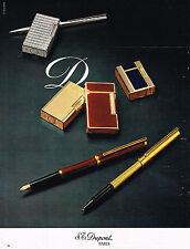 PUBLICITE ADVERTISING 024   1977   DUPONT  briquet stylo