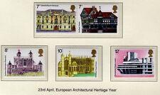 GB 1975 européenne ARCHITECTURE sg975-979 MNH excellent état