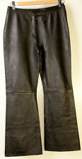 Impuls Real Leather Black Pants Womens Size S