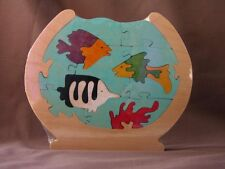 Life in a Fish Bowl Puzzle Wood Puzzle Toy Amish Made in USA