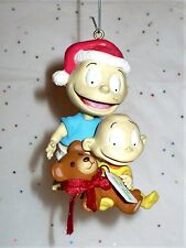 1999 VIACOM RUGRATS CHRISTMAS TOMMY & DIL WITH PRESENT TREE ORNAMENT VGC