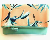 Rachel Pally Coral Mint Clutch Carryall Chic Floral Reversible NWOT Purse Clutch