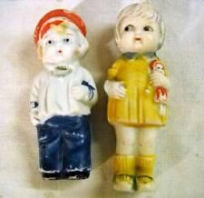 2 Vintage Bisque Penny Dolls Frozen Charlotte Girl w/Doll Japan Sweet