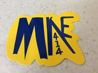 "City Of Milwaukee Collectible Sticker! ""MKE 414"" Wisconsin!"