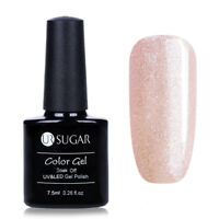 7.5ml UR SUGAR Soak Off UV Gel Nail Polish Nail Art Gel Glitter Champagne Color