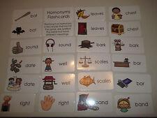 23 Homonyms Flashcards.  Preschool thru 4th grade educational flashcards. Lami