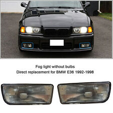 For 92-98 BMW E36 3 SERIES 2/4D REPLACEMENT FOG LIGHTS LAMPS HOUSING CASE