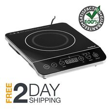 1800 Watt Portable Induction Cooktop Countertop Burner With Touch Control Timer