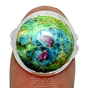 Ruby In Fuchsite - India 925 Sterling Silver Ring Jewelry s.5.5 BR83772