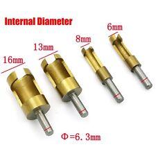 4pcs Carbon Steel Wood Work Plug Cutter Drill Bit Set 6mm8mm13mm16mm