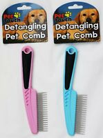 Pet Comb Detangling for Dogs/Cats etc. Pink/Blue