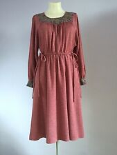 Genuine 1960s Vintage Ladies Heavy Cotton Boho Hippy Dress UK 10