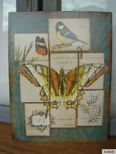 Nr.G6933 Schmetterling - SCHILD - Blechschild - Nostalgie - Jardin