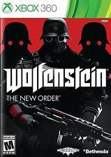 Wolfenstein: The New Order [Xbox 360, Doom FPS Bethesda WWII Shooter] NEW