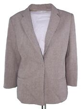 mila schon giacca donna beige lana made italya taglia it 46 xl extra large