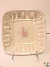 Pfaltzgraff Tea Rose Wicker Candy Dish EUC