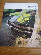 ROVER 2000 OVERSIZED CAR BROCHURE - MID 60'S?   jm
