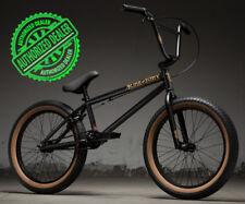 """2019 Kink Curb 20"""" Complete BMX Bike 20""""TT Matte Black Goldschlager"""