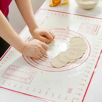 60*40cm Silicone Dough Rolling Mat Baking Pastry Clay Non-Stick Sheet Liner W6D9