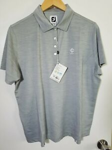 1 NWT FOOTJOY WOMEN'S POLO, SIZE: X-LARGE, COLOR: GRAY HEATHER (J131)