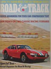 Road & Track magazine 11/1974 featuring Ferrari Daytona track test, Fiat, BMW
