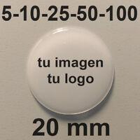 Pegatinas Personalizadas Logo Imagen Resina 20 mm Adhesivos Relieve 3D Empresa