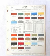1976 INTERNATIONAL  TRUCK PPG COMMERCIAL COLOR PAINT CHIP CHART ALL MODELS