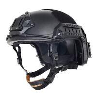 AIRSOFT OPS BLACK SWAT TACTICAL MARITIME ABS HELMET JUMP RAIL L/XL