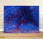 "Piet Mondrian Blue Trees ~ FINE ART CANVAS PRINT 36x24"" Abstact"