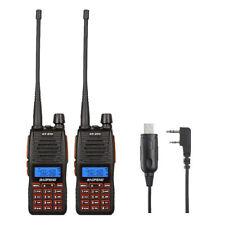 2x Baofeng GT-5TP 8W Ricetrasmittente Radio Walkie Talkie VHF UHF + Win 10 Cavi