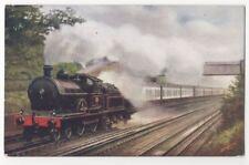 Railway Express Passing Water Troughs At Bushey Vintage Postcard 783b