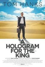 HOLOGRAM FOR THE KING - 13.5x20 Original Promo Movie Poster 2016 MINT Tom Hanks