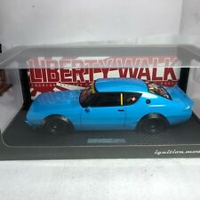 1/18 Ignition Model Nissan LB Works Kenmary 2 Door Blue IG1058